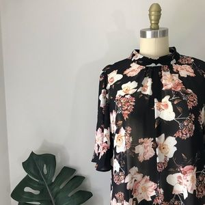 Rachel Roy • Floral Sheer Blouse